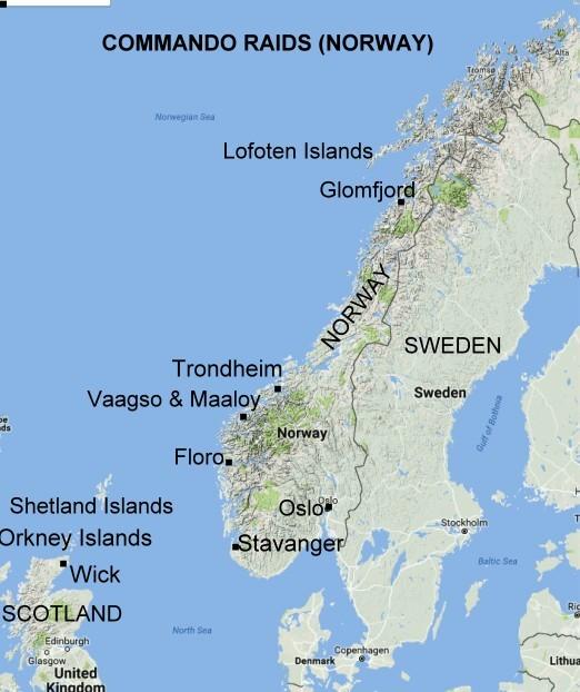LOFOTEN ISLANDS Nd RAID OPERATION ANKLET - Norway map lofoten islands