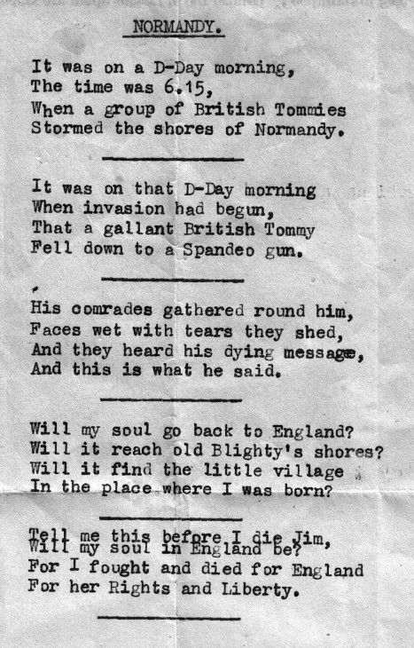 D Day Poems