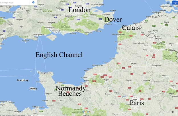 Map Of Northern France Coastline.Operation Overlord The D Day Landings
