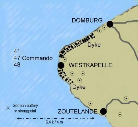 Les Commandos Belges et la forteresse Escaut Walcheren_map3